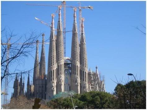 The Sagrada Família church