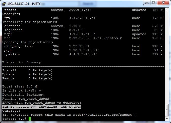 install yum with rpm
