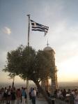 山頂上的希臘國旗