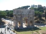 L'arco di Costantino ed il Colosseo