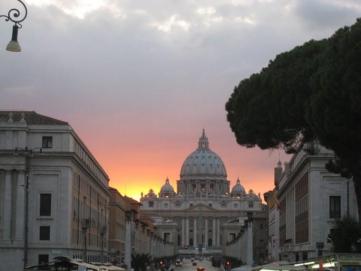 夕陽的 Vatican @ 2
