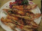 是日晚餐 — 烤海蝦