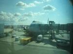 載我地回港的國泰航機
