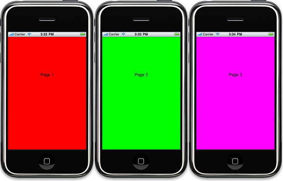 iPhone – UIScrollView with Paging Example