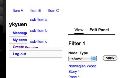 wordpress how to create drop down menu