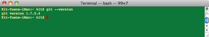Mac – Git installation on OSX   Eureka!