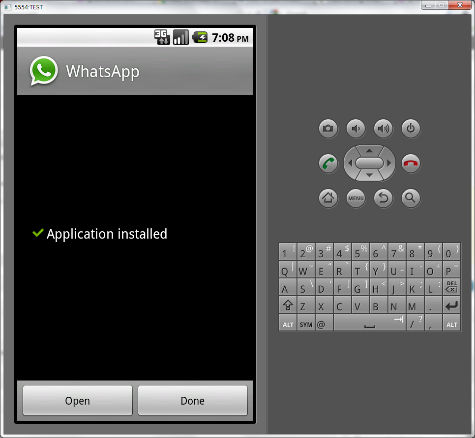 Run WhatsApp on Android SDK without a phone (4/6)