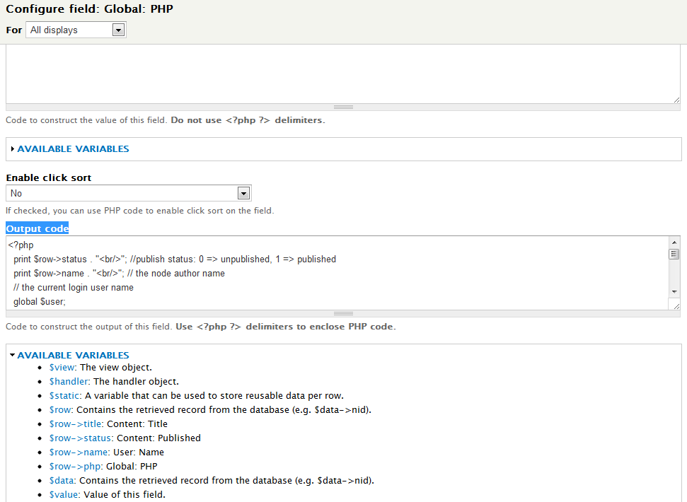Drupal 7 – Add PHP field to view   Eureka!