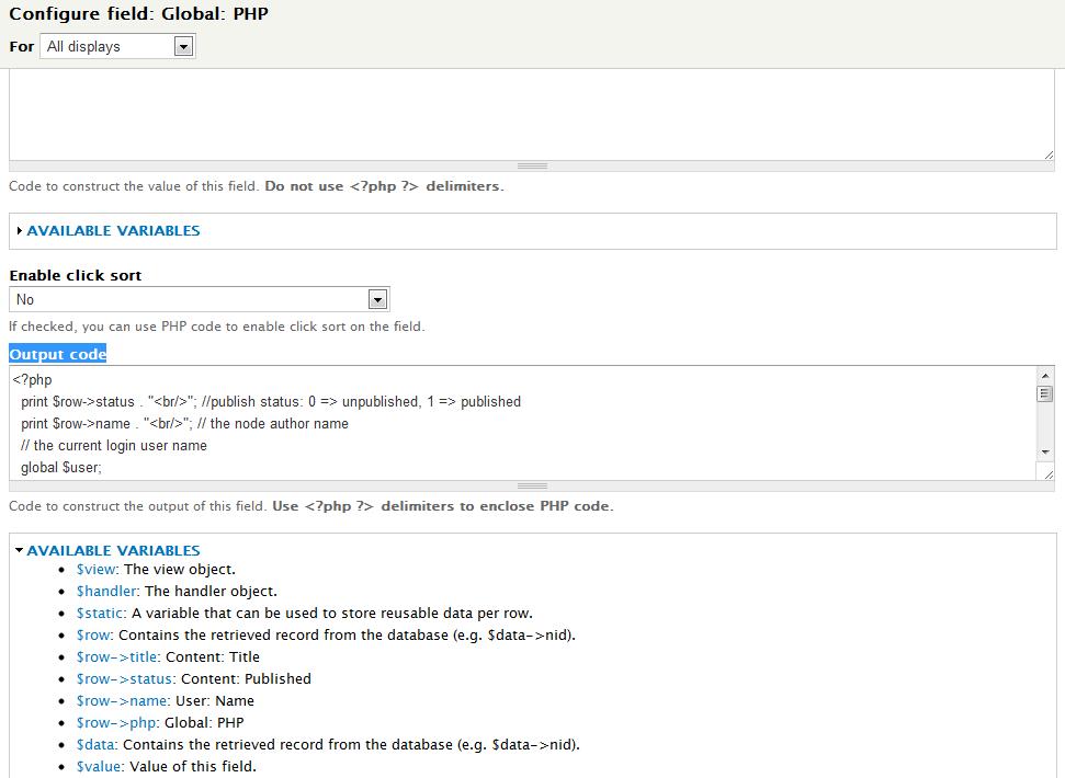 Drupal 7 – Add PHP field to view | Eureka!