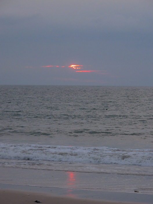 印度洋的夕陽