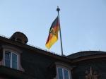 有日耳曼紋章的德國國旗