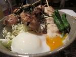 串燒溫泉蛋飯