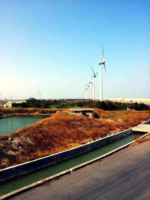 王功漁港岸邊