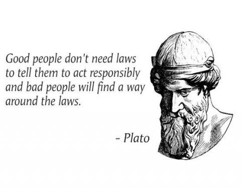 Good people do not need laws to tell them to act responsibly, while bad people will find a way around the laws